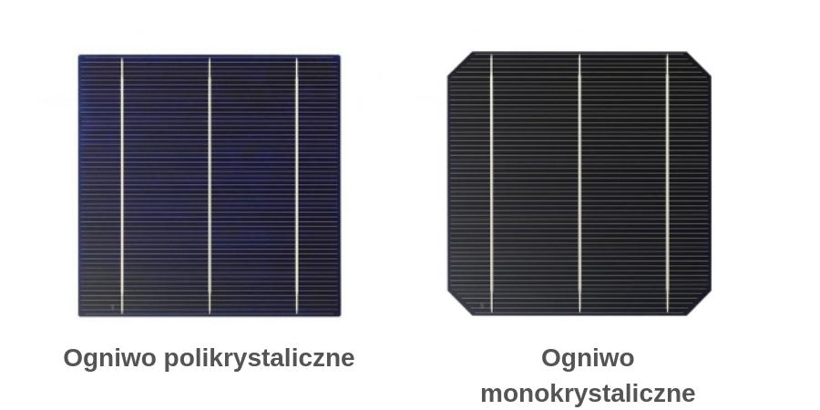 ogniwa polikrystaliczne i monokrystaliczne